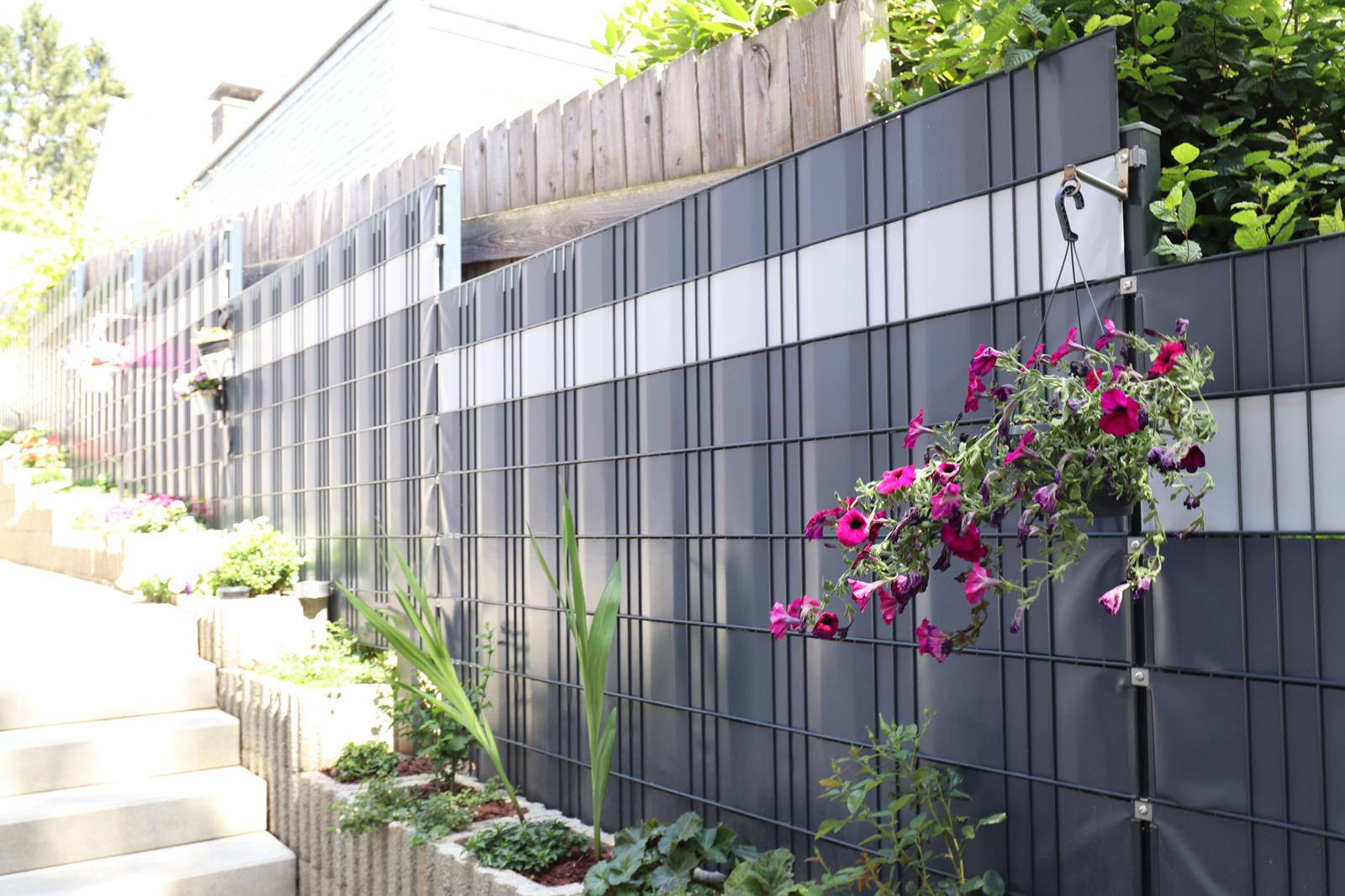 Sight Protection For Double Panel Fence